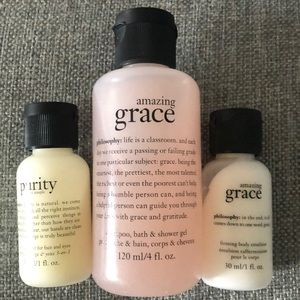 Philosophy set of three trial size bath